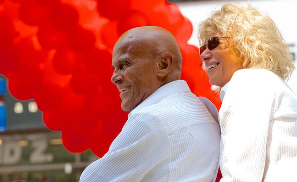Harry Belafonte, age 86, and his wife, Pamela Frank, 2013.