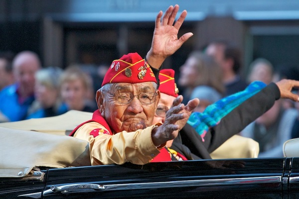 Navajo Code Talkers, Veterans Day Parade 2012